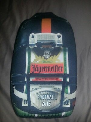 1 JAGERMEISTER Insulated Zip Up Bottle Cooler Coozie Koozie Football Theme