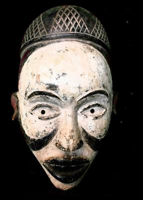 Old Tribal Bakongo Mask     ---  Congo