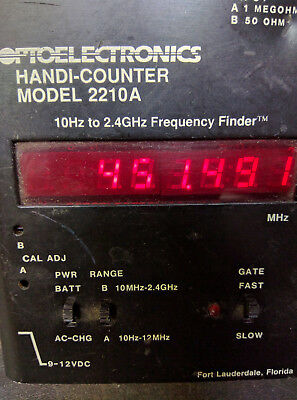Optoelectronics 2210A Pocket Size Frequency Counter 10Hz-2.2GHz Handi-Counter