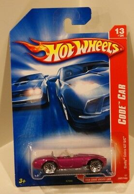 Hot Wheels 2007 Code Car Shelby Cobra 427 S/C Purple w/BBS Lace