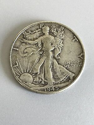 1945 S 50C Walking Liberty Half Dollar - S Mint