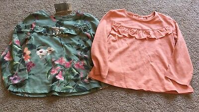 Next Girls Floral Long Sleeve Tops BNWT 18-24 Months