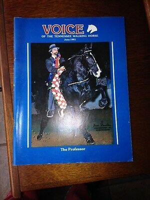 Voice of the Tennessee Walking Horse Magazine June 1981