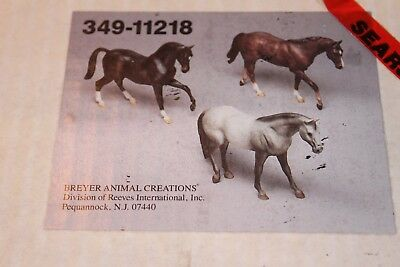 Breyer 1992 Set of three Traditional Size Horses