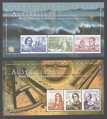 "Australia Stamps 1999 - ""A99"" perf. set of 2 Navigator mini sheets - MNH"
