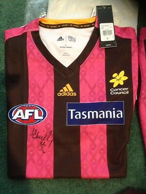 Liam Shiels Signed Hawthorn Pink Ribbon Guernsey