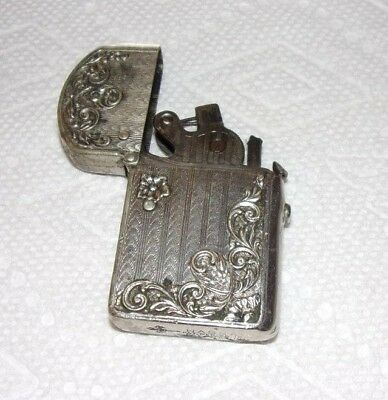 Nassau Lighter Patent Dec 25 1905 & Oct 9 1911 Unusual Ornate Floral Design