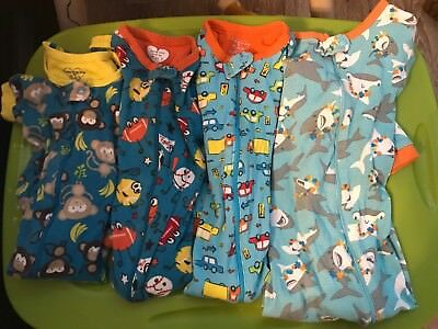 4 Pair Lot Of Pajamas. 2T. Monkeys, Balls, Cars, Dolphins