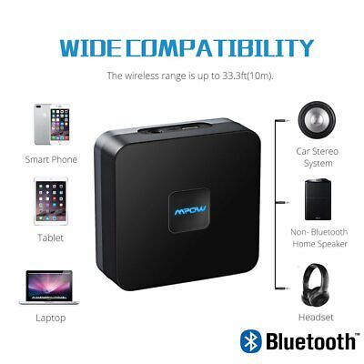 Mpow Rechargeable Wireless Bluetooth 4.1 Receiver Stereo Audio Adapter Music AU