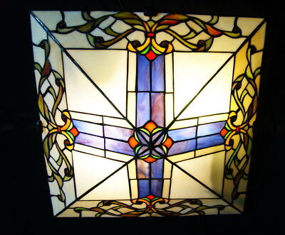 Hot Sale@Classcic Baroque Semi Flush Stained Glass Ceiling Lighting*Restock Now
