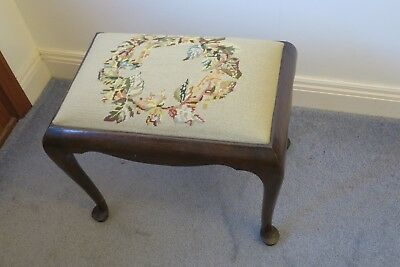 Dresser, piano, foot stool with tapestry top