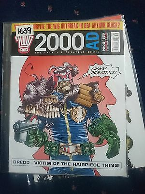 2000 Ad Magazine #1639-Dredd-Victiim Of The Hairpiece Thing...