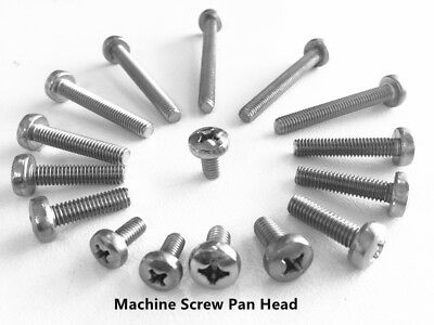 M2 M2.5 M3 M4 M5 Machine Screw Pan Head Stainless Steel 304 Metric Coarse