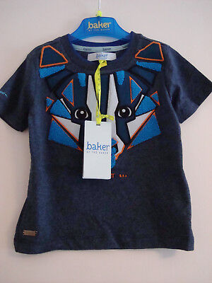 Brand New With Tags Ted baker Baby Boys Badger Print T-shirt 12 - 18 Months Blue