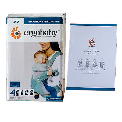 NENEW & AUTHENTIC. ERGOBABY 360 Ergo baby carrier COOL AIR MESH. 2 COLORS!