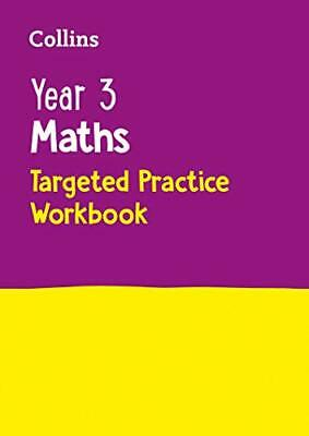 Year 3 Maths Targeted Practice Workbook: 2019  by Collins KS2 New Paperback Book