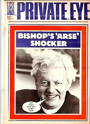 Private Eye Mag # 608  5 April 1985 Bishop of Durham cover  Sikh Article inside