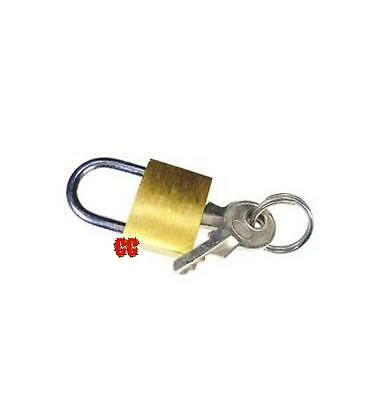 Small sized luggage zip suitcase tent bag security lock padlock 2.5mm shank NEW