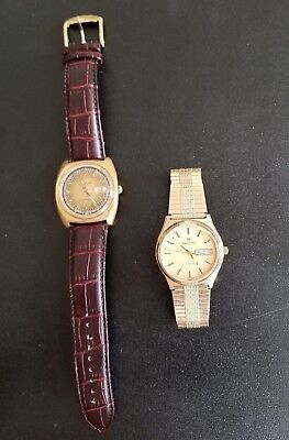 Lot Of Two Vintage Hamilton Watches Electronic