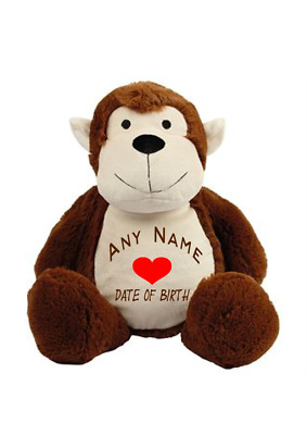 Cuddly-Animal-Toy-Individual-Embroidered-Christening-Birth any Name