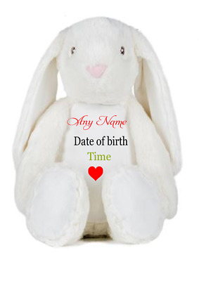 Personalised  Your Name Large Bunny Rabbit Embroidery Individual,from Birth
