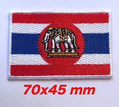 Thai Navy Ensign Flag Logo Embroidered Patch Iron On,Sew on Asian Jacket T-Shirt