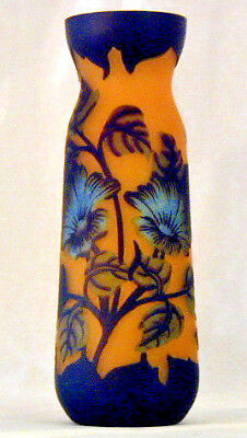 Vintage Tip Galle type  Vase Romania Mouthblown Handmade  Hand painted