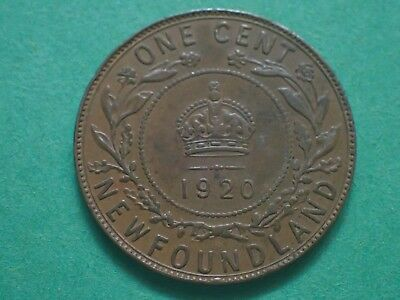 1920,    one cent,   Newfoundland, NFLD, Lot N920, Free shipping in Canada