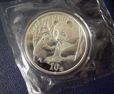 China 2005 1oz .999 Silver Panda 10 Yuan Coin. Sealed & untouched from the mint