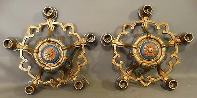 Art Deco Cold Painted Metal Ceiling Fixures