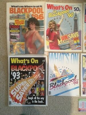 blackpool whats on from the 1980s and 1990s rare and very collectible !!