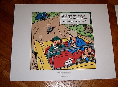 Lithographie TINTIN 2011 TBE - L'affaire Tournesol - 19,3*24
