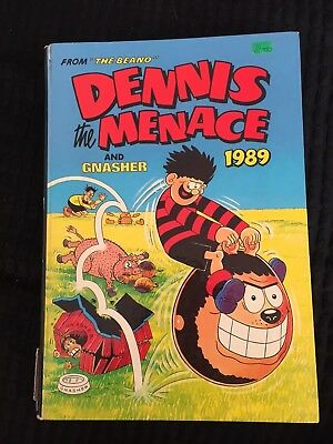 Dennis The Menace And Gnasher Book 1989