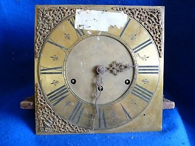 Wilks Wolverton antique long case clock face 18th century and Lenzkirch movement