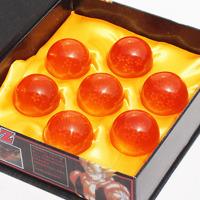 7pcs/set 3.5CM Dragon Crystal  Ball Z 7 Stars Figure with Boxed Great Gift