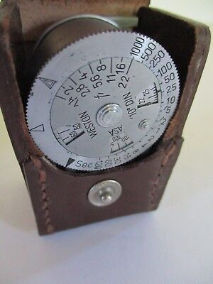 Vintage Weston Metraphot Light Meter and Original Leather Case - Beautiful!