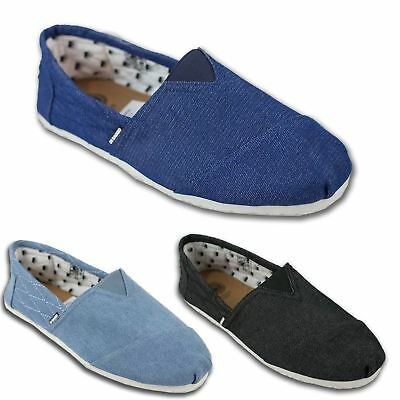 ed6433700856 Mens Di Baggio Denim Summer Elasticated Slip On Espadrilles Plimsoll Shoes