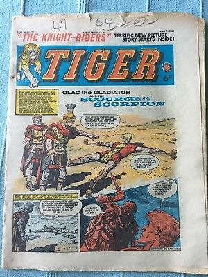 Tiger comic, June 13th 1964 (Roy Of The Rovers). Reasonable condition, Rare