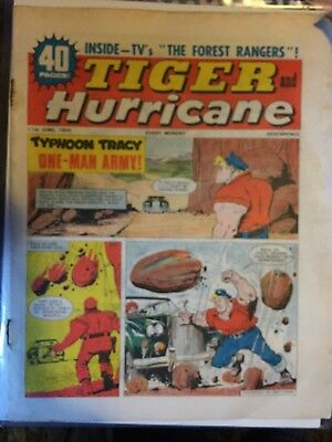 Tiger & Hurricane comic - June 11th 1966 (Roy Of The Rovers).