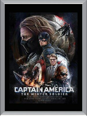 Captain America The Winter Soldier Art A1 To A4 Size Poster Prints
