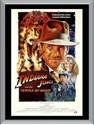 Indiana Jones and The Temple of Doom A1 To A4 Size Poster Prints
