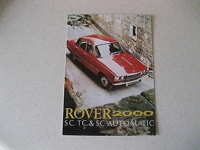 Rover P6 2000 Sc,tc,& Sc Automatic Postcard Of An Original Advert From 1970