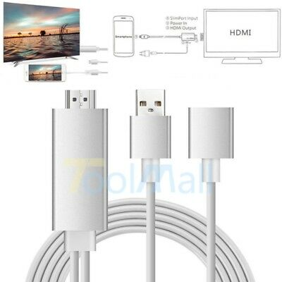 USB MHL To HDMI 1080P TV Adapter Cable HD For Samsung Galaxy S8 S7 iPhone 8 7 6