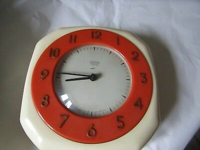Vintage Art Deco Smiths Wall Clock 4 jewels 8 day