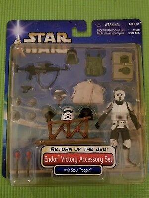 Star Wars Return of the Jedi ENDOR VICTORY ACCESSORY SET w/ SCOUT TROOPER 2002