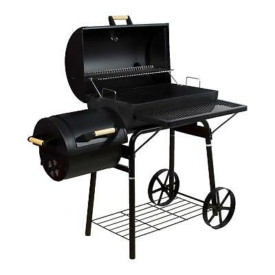 Smoker BBQ Grill Grillwagen Barbecue Holzkohlegrill Kamingrill 32 kg Stahl XL