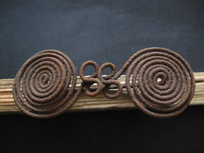 HALLSTATT CULTURE SPIRAL FIBULA ANCIENT CELTIC IRON BROOCH 800-600 B.C. 137 mm.