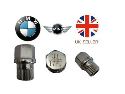 Mini, BMW Locking Wheel Nut Key ABC 33 Type 17 Splines