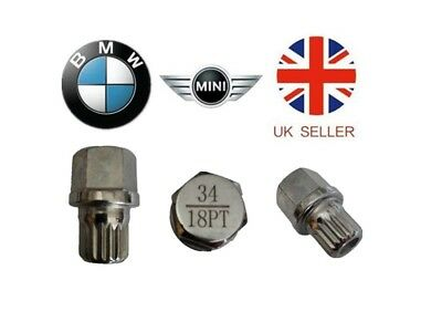 Mini, BMW Locking Wheel Nut Key ABC 34 Type 18 Splines