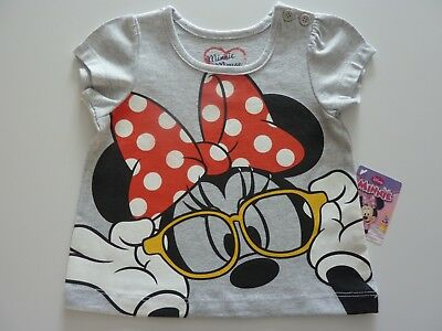 Disney MINNIE MOUSE Really Cute Little Grey T-Shirt Size 3-6 Months NWT